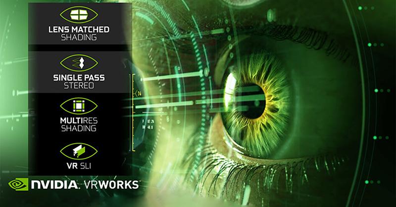 Les cartes graphiques dotées de VRWorks