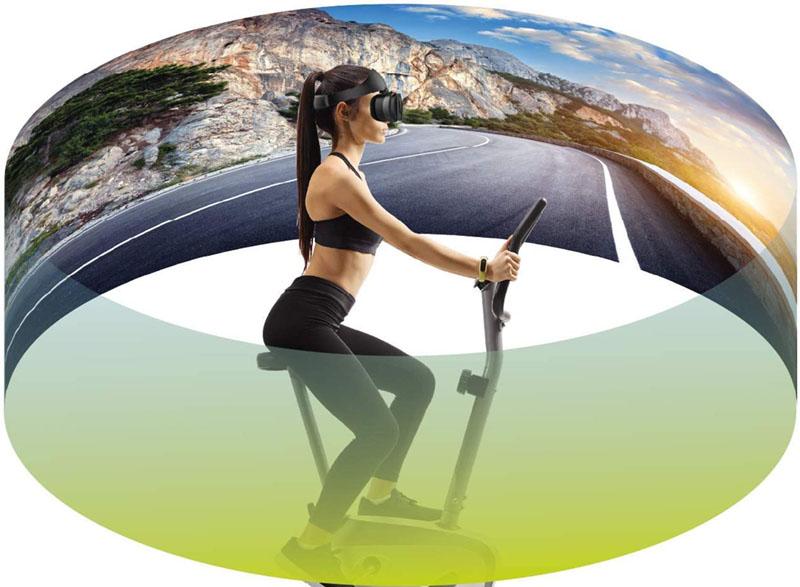 Test et avis - Fit Immersion Kit d'entrainement Casque de réalité virtuelle Cyclisme vélo intérieur VR Confortables Compatible avec téléphone Android